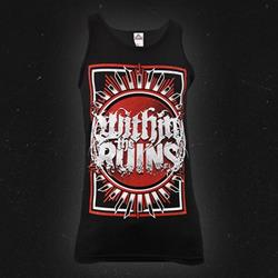 Red Crest Black Tank Top