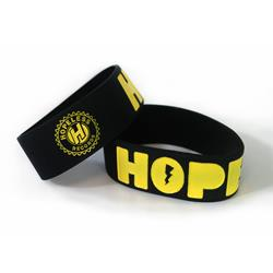 Hope Black W/ Yellow Text Wrist Band