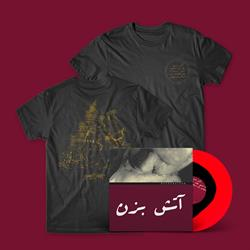 Burn The Idol - Circle Logo Black T-Shirt + Red/Black LP