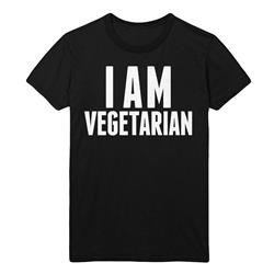 I Am Vegetarian Black