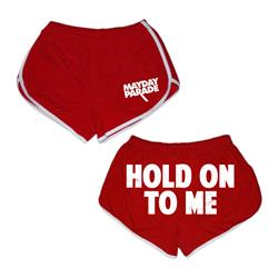 Hold Onto Me Red/White Track Shorts