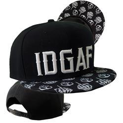 IDGAF Black Snapback