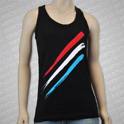 Stripes Black Tank Top