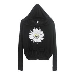 *Limited Stock* Feel Flower Black  Crop Top