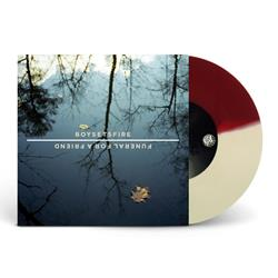 Split Half Opaque Maroon / Half Opaque Cream Vinyl 7