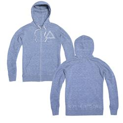 HRVRD - Logo Blue Zip-up Sweatshirt
