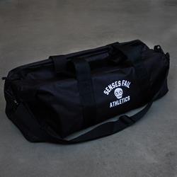 Athletics Black Embroidered Duffel Bag