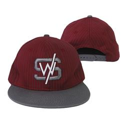 *Last One* Pinstripe Red/ Grey Snapback