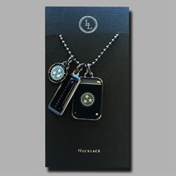 3 Pendant Silver Necklace
