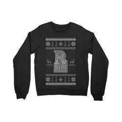 Rise Holiday Sweater Black Crewneck