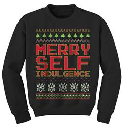 Merry+Self+Indulgence+Black+Crewneck