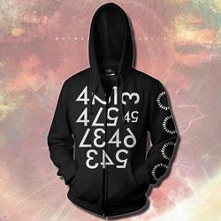 Numbers Black Zip-Up
