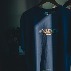 Worldwide Embroidered Navy