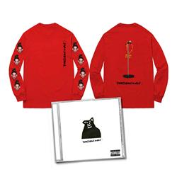 CD & Mic Stand Red Long Sleeve