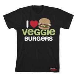 I (Heart) Veggie Burgers Black