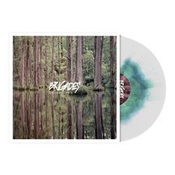 Crocodile Tears White W/Olive Green & Aqua Blue Haze LP