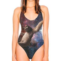 Galaxy Sloth All-Over-Print One-Piece Bathing Suit