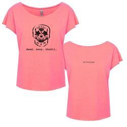 Dead Sexy Neon Heather Pink Ladies T-Shirt