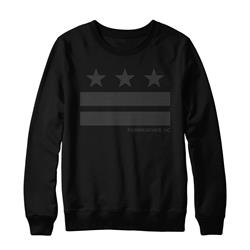 Stripes Black Crewneck Sweatshirt