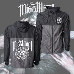 Shadows Inside Black/Graphite Windbreaker