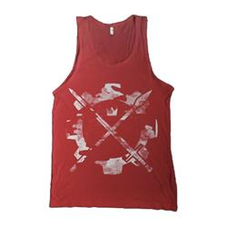 Weapon Cog Red Tank Top