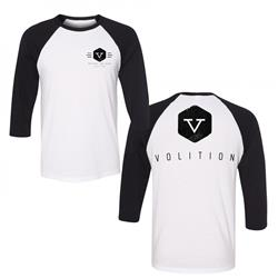 Volition Black / White Baseball Tee