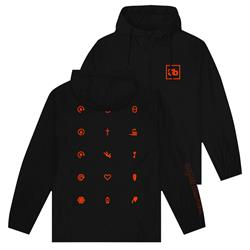 Symbols Black Windbreaker