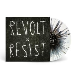 Revolt / Resist White W/ Black Splatter