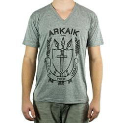 Vintage Arrow V-Neck Tri-Grey