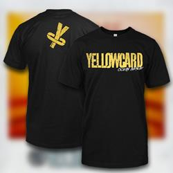 Yellowcard - Old School Black T-Shirt