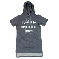 Limitless MMXVI Grey Short Sleeve Hoodie