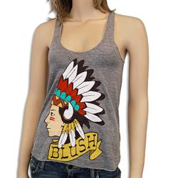 Indian Athletic Grey Girl's Tank Top