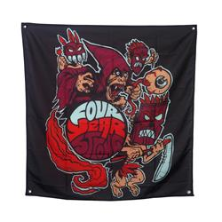 Warrior Black Wall Flag 40X40