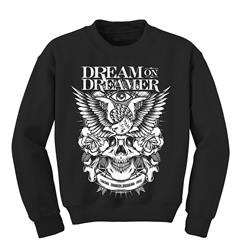 Free Eagle Black Crewneck