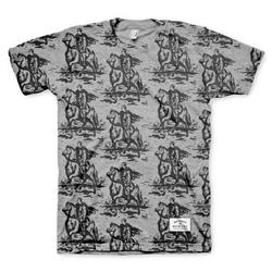 Horse & Rider All-Over-Print Heather Grey