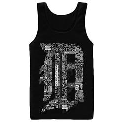 Detroit D Black Tank Top