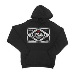Emblem Black Hooded Pullover