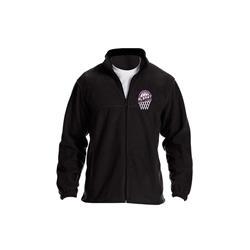 Hoop Logo Black Embroidered Fleece