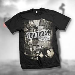 Newspaper Black T-Shirt
