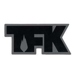 TFK Die Cut Black On Grey