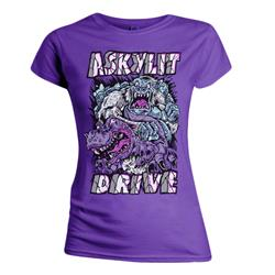 Yetti Vs. Crock Purple Girl Shirt