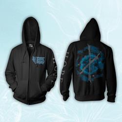 Hope Black Zip-Up Sweatshirt