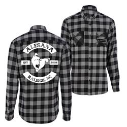 Est. 2004 Raleigh, NC Black/White Flannel