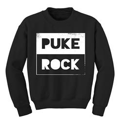 Puke Rock Black Crewneck