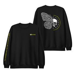 Butterfly Black Crewneck