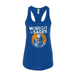 Sage Royal Blue Racerback Ladies