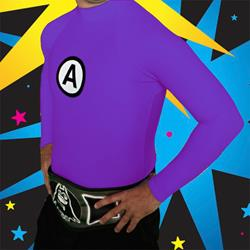 Logo Purple Rash Guard