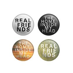 The Home Inside My Head  4 Pack Button Set