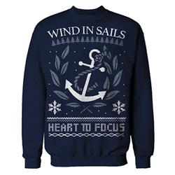 Anchor Navy Holiday Sweater