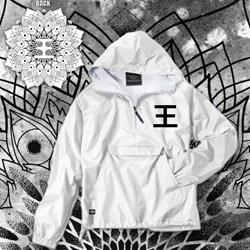 Logo White Windbreaker